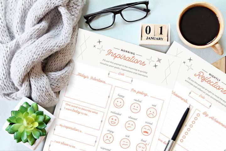 self-reflection questions and printable activity morning inspirations and evening self-introspection
